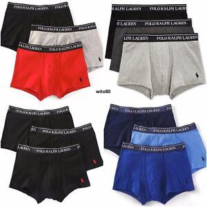 57de4a3be9 Polo Ralph Lauren TRUNKS / Boxer Briefs Mens Underwear No Fly 3 Pack ...