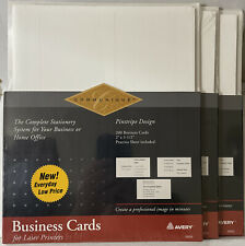 Avery 3 Packs 600 Business Cards Laser Printer Pinstripe Design26555see Picts