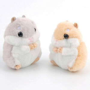 Cute-Hamster-Plush-Key-Chain-Mini-Stuffed-Animal-Pendant-Decoration-Light-Brown
