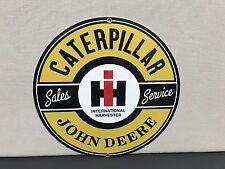 caterpillar cat international harvester John Deere service metal sign