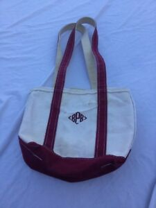 Fantastic Details About Ll Bean Boat And Tote Canvas Tote Bag Burgundy Zippered Monogrammed Bpb Cjindustries Chair Design For Home Cjindustriesco