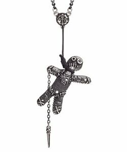 Voodoo doll noose pendant witch grimoire stick pin wicca alchemy image is loading voodoo doll noose pendant witch grimoire stick pin aloadofball Gallery