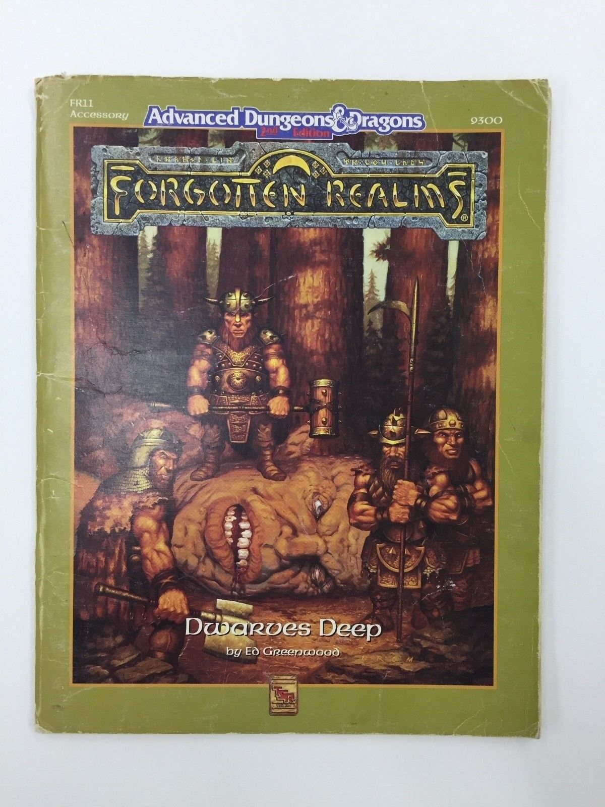 TSR ADVANCED DUNGEONS & DRAGONS FORGOTTEN REALMS DWARVES DEEP 9300 FR11 1990