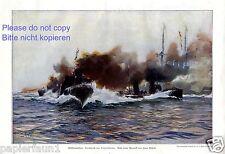 Flottenmanöver XL Kunstdruck 1910 Hans Bohrdt * † Berlin Torpedoboot Kriegschiff