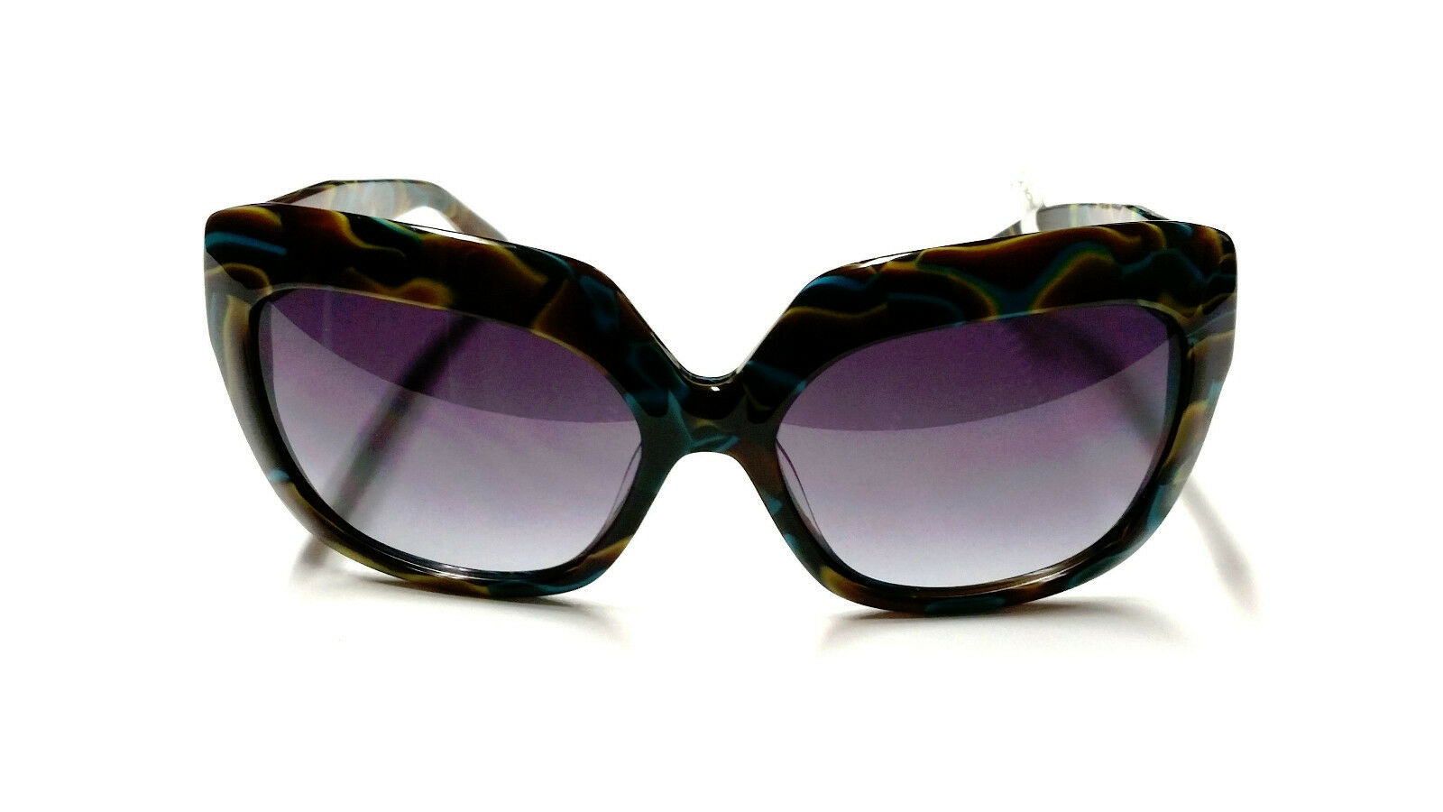 VON ZIPPER Donna POLY Sunglasses - Swirl marrone blu - NWT