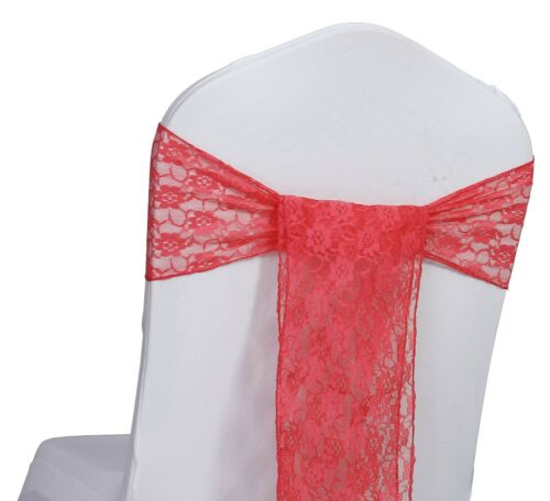 FREE SHIP 25 LACE Chair Bows Sashes for Wedding Party Chair Decoration Vintage