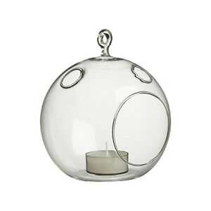 """4.5"""" Inch Air Plant Terrarium Glass Orb Hanging Tealight Candle Holder (6 PCS)"""