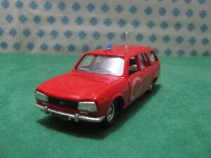 Vintage-PEUGEOT-504-2000cc-break-Pompieri-1-43-Solido-n-23D