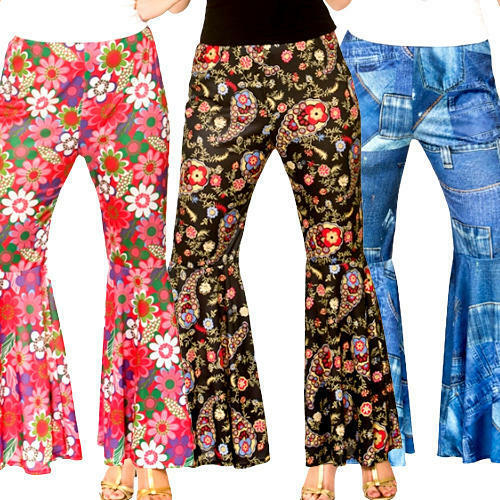 Hippy Trousers Ladies Fancy Dress Hippie Womens Adults Costume Pants Accessories
