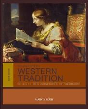 Sources of the Western Tradition Vol. 1 : From Ancient Times to the Enlightenment by Marvin Perry (2012, Paperback)