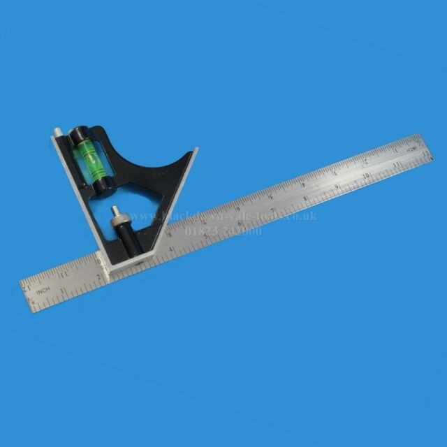 """12""""/ 300mm Adjustable Combination Square Measuring Set Try Square Toolzone WW016"""