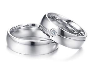 Fedine-Fidanzamento-Anelli-Anello-Fede-Acciaio-Inox-Argento-Solitario-Fascia-Lov