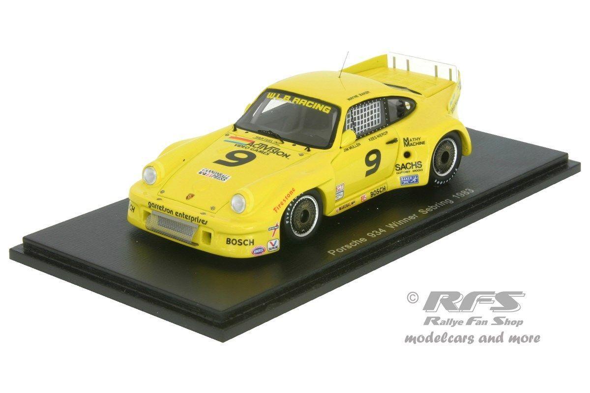 Porsche 934 - 12h sebring 1983-Baker Mullen Nierop - 1 43 spark 43se83