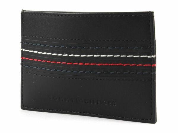 Capace Tommy Hilfiger Cc Holder Keyfob Box Black Una Custodia Di Plastica è Compartimentata Per Lo Stoccaggio Sicuro