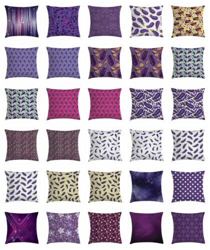 Eggplant Throw Pillow Cases Cushion Covers Home Decor 8 Sizes by Ambesonne