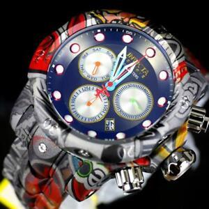Invicta Reserve Venom Graffiti Swiss Mvt Gray Hydroplated Steel 52mm Watch New