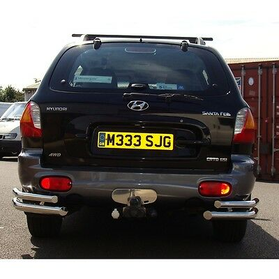 Stainless Steel Double Rear Corner Bumper Bars For Hyundai Santa Fe To 2006