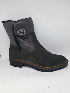 Details zu jenny by ara Damen Chelsea Boots Stiefel Portland Leder Gefüttert Grau Gr.38 Neu