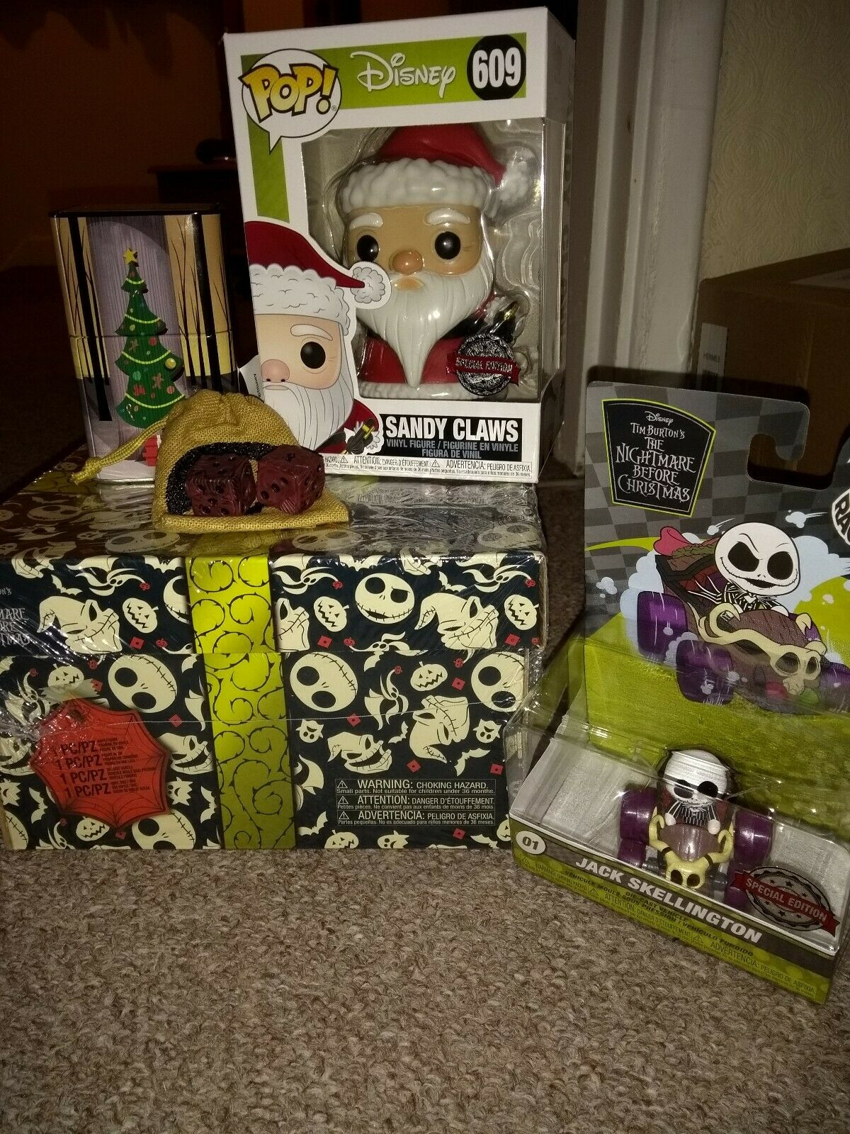 Funko Pop Nightmare Before Christmas Collectors Box New & Sealed .  Sandy Claws