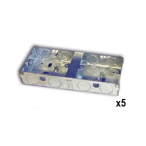 DB135 35mm deep 2x1 dual gang flush boîte//métal galvanisé 10207
