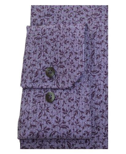 38 bis 45 eterna Modern Fit Langarmhemd Floraldessin in flieder lila Gr