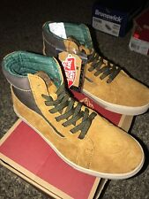 VANS Mens Sk8-hi MTE Cup Cathay Hummus Suede All Weather Shoes BOOTS Size 8 d394a9266