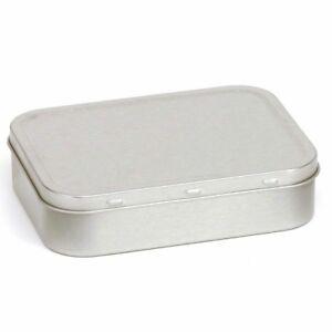 Tobacco-Tin-Silver-2oz-50g-Metal-Storage-Pocket-Cigarette-Smoking-Baccy-Box