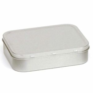 Tobacco Tin Silver 2oz 50g Metal Storage Pocket Cigarette Smoking Baccy Box by Ebay Seller