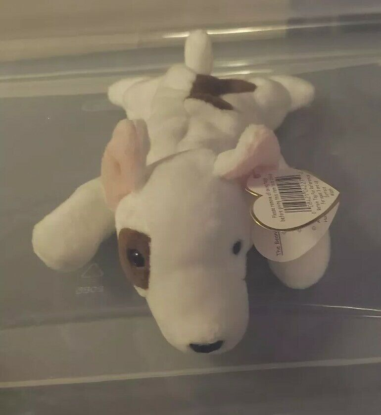 Ty Beanie Baby Butch the Bull Terrier Dog Spelling Error GASPORT and more
