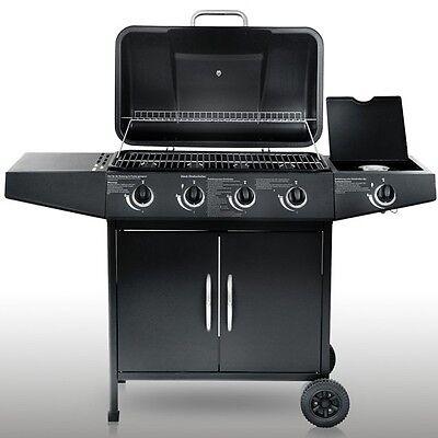 Gasgrill Grill Grillwagen Barbecue BBQ 4+1 Temperaturanzeige Grillstation Neu