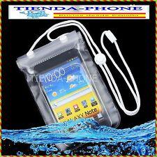 FUNDA IMPERMEABLE PARA TELEFONO MOVIL SUMERGIBLE BOLSA ACUATICA PROTECTOR AGUA