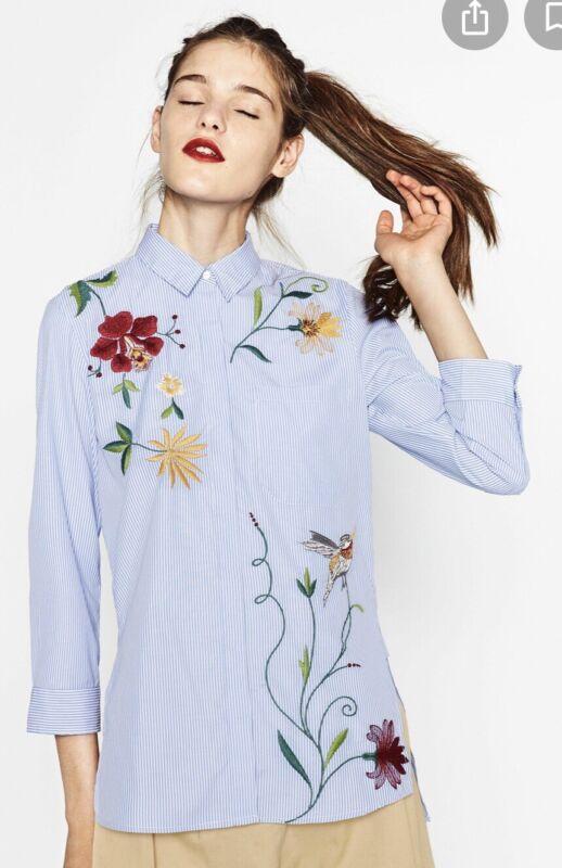 Responsible Zara Embroidered Shirt Xs