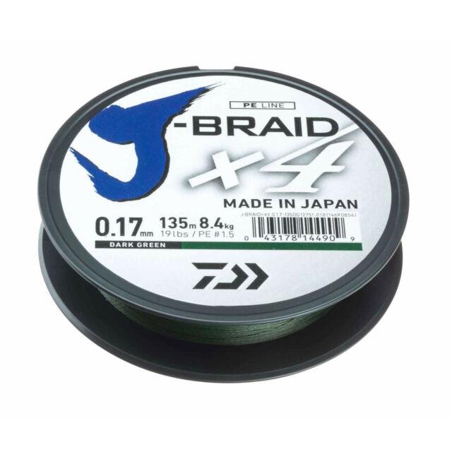 verschidene Stärken und Farben DAIWA J-Braid X8 300m oder 1500m
