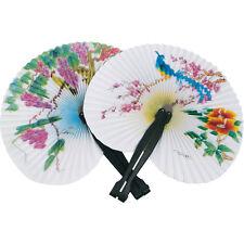 3 Papel Chino Oriental Plegable Hand Held ventiladores. Boda Fiesta Favores, Gallina Noches