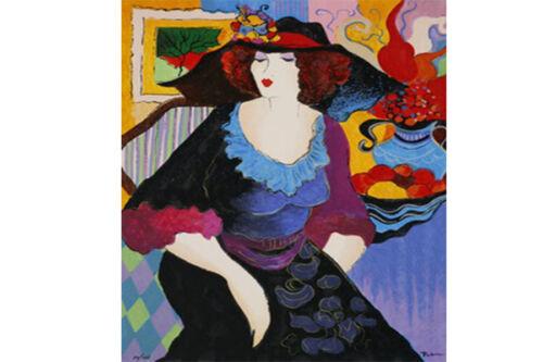 "Patricia Govezensky /""Amanda/"" Serigraph on Silk Screen Limited Edition Signed Art"