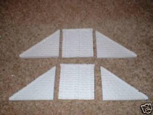 00 Ho Scale - Rough Stone Style Single Track Bridge Abutment Set- Unpainted
