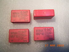 MKP10 WIMA  Polypropylen Kondensator Capacitor 0.047uF 2000VDC 700VAC 4Stck.