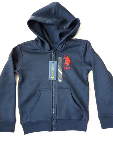 US Polo Assn Jungen blau Kaputzenjacke Sweatjacke Kinder Hoodie 2//3-6//7 Jahre