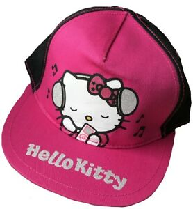 Lenzuola Di Hello Kitty.Dettagli Su Hello Kitty Child S Cappello Baseball 4 8 Anni Rosa Nero