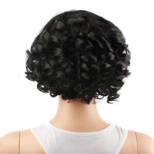 Black-Short-Curly-Human-Hair-Lace-Front-Wigs-Women-African-Glueless-Full-Wig-FA3