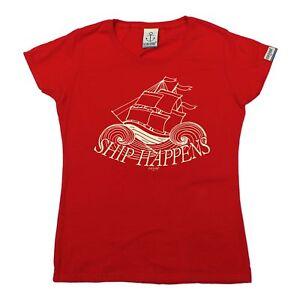 Image Is Loading Ladies Sailing Tee Ship Happens Rude Sassy Adult