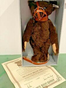 Steiff 1908 Muzzle Brown 406119 Bear Replica Growler LE 352/5000 NIB, COA 1991