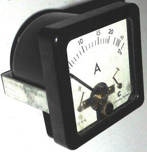 Amperemetre-AC-DC-thermocouple-ou-0-40A-NOS-NIB-Cie-de-Construction-Electrique