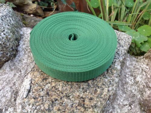 25 mm Forrest Green Nylon Sangle Bande x 10 m