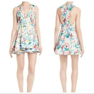 fcd902dd649 Image is loading NEW-ALICE-OLIVIA-White-Poppy-Floral-Print-Tanner-