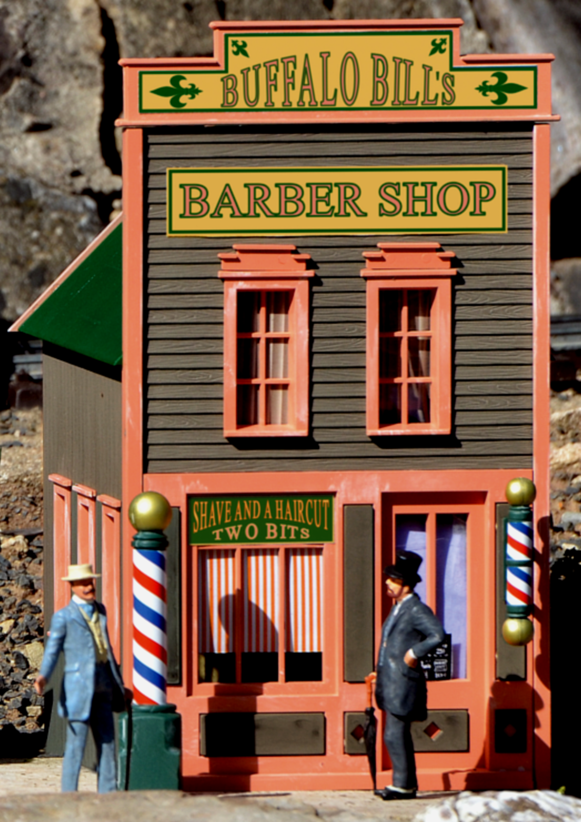 PIKO RIVER CITY BUFFALO BILL'S BARBER SHOP G  Scale Assembled Building  62726  shopping en ligne