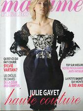 madame FIGARO 16/02/2008 sylvie vartan julie gayet mode