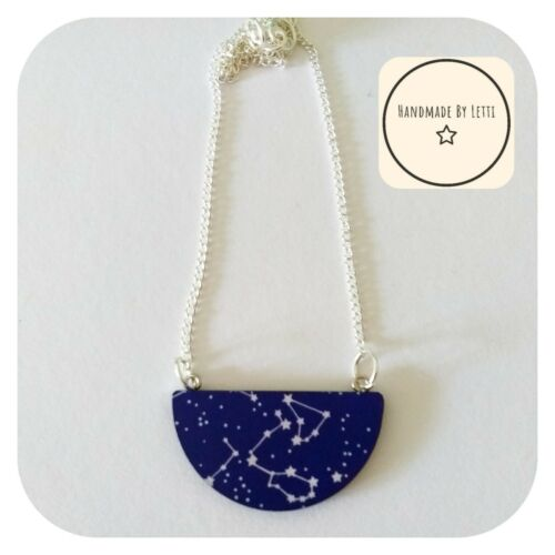 Constallation Star Sky Collar ⭐ de madera ✳ Galaxy ✳ espacio 45mm
