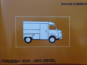 Notice d'emploi - Citroën TYPE H - France - État : Neuf: Objet neuf et intact, n'ayant jamais servi, non ouvert. Consulter l'annonce du vendeur pour avoir plus de détails. ... Marque du véhicule: Citroën - France