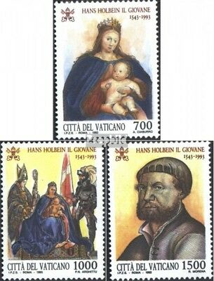 complete Issue Vatican 1104-1106 Never Hinged 1993 Holbein Unmounted Mint